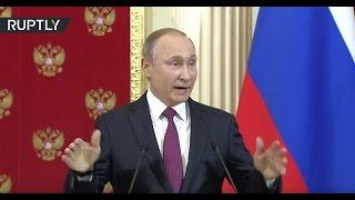 Download Putin mocks Trump's 'prostitute scandal' allegations Video