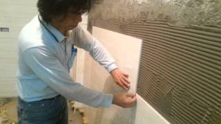 Download Tile Installation on Brick Wall Process, Part 1 Video
