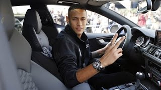 Download The FC Barcelona players get their new Audi cars Video