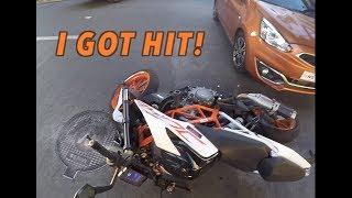 Download GakiMoto 128: I got bumped on #21, my KTM Duke 390 Video