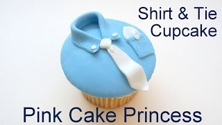 Download Father's Day Shirt & Tie Cupcake Decorating How to by Pink Cake Princess Video