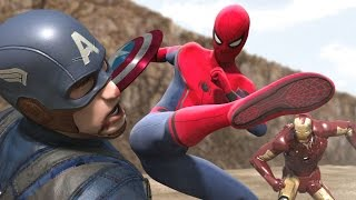 Download Civil War - Iron Man vs Captain America - Part1 (FIGHT SCENE) feat new Spiderman Video