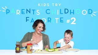 Download Kids Try Their Parents' Favorite Childhood Foods Part 2 | Kids Try | HiHo Kids Video