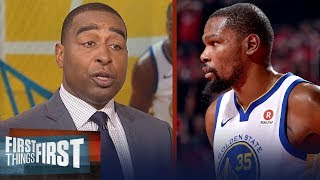 Download Cris Carter praises Kevin Durant in Warriors' Game 1 win over Rockets | NBA | FIRST THINGS FIRST Video