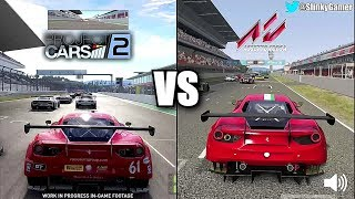Download Project CARS 2 preview vs Assetto Corsa - Ferrari 488 GT3 - Graphics and sound Video