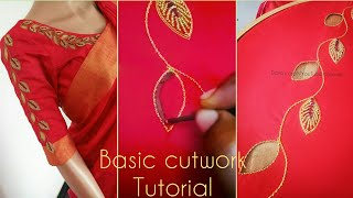 Download Basic cutwork tutorial for beginners| aari work Tutorial Video