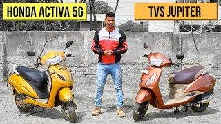 Download 2018 Honda Activa 5G vs TVS Jupiter Comparison Review Video