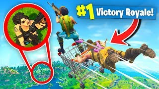 Download *MAX* Height SHOPPING CART Diving In Fortnite Battle Royale w/Dakotaz Video