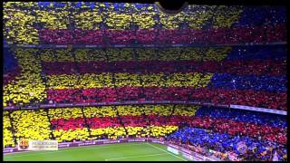 Download Amazing FC Barcelona Anthem Live at Camp Nou El Clasico El Cant del Barça Video