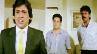 Download Govinda teaches lesson to Raja Bundela and Dilip Dhawan - Swarg, Scene 14/14 Video