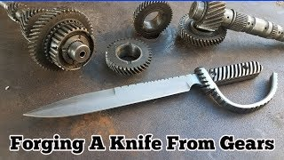 Download Forging A Knife From Gears - Trench Knife Video