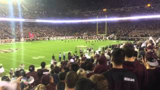 Download Kyle Field 110,000 people team entrance Texas A&M Aggies Video