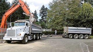 Download Peterbilt 378 Dump Truck and Pup Trailer Working - Pacific Rim Machinery, Inc. Video