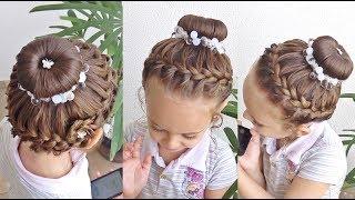 Download Penteado Infantil com arco trançado, coque e flor de cabelo Video