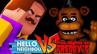 Download Minecraft - HELLO NEIGHBOUR VS FIVE NIGHTS AT FREDDY'S! Video