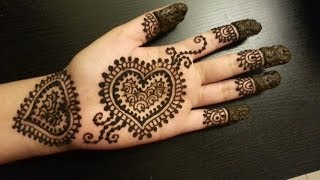 Download Pretty Heart Henna Design - Easy Hearts Shaped Mehendi Design Video