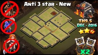 Download Clash of Clans - Th9.5 Warbase 2016 New - 2 Bomb Towers - Anti 3 Star | Christmas post update Video