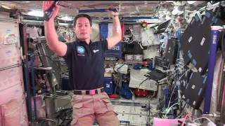 Download Space Station Crew Member Discusses Life in Space with French Officials Video