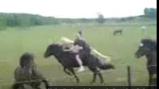 Download Dead Guy Jumps on Wild horse - Very dangerous and Stupid - Rick Gore Horsemanship Video