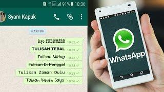 Download Cara Membuat Tulisan Unik Di Whatsapp Video
