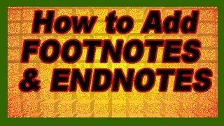 Download MS Word: How to Add References Citations (Footnotes Endnotes), Cross-References. Tutorial Video