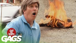 Download Puppy On Fire, Snake Charmers, and Monster Frogs Pranks - Throwback Thursday Video