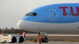 Download AMAZING SOUND & CLOSE UP!! TUI Boeing 787-8 Pushback & Takeoff from Curacao Video