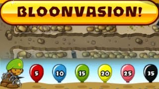 Download Bloons TD 5 - Beating BLOONVASION! NEW Special Game Mode (BTD5) Video