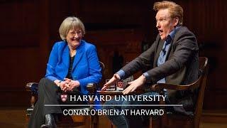 Download Conan O'Brien in conversation with Harvard University President Drew Faust Video