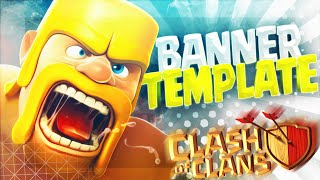 Download BANNER TEMPLATE / Clash Of Clans FREE Video