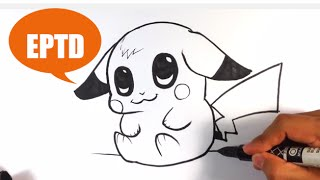Download How to Draw Baby Pikachu - Easy Pictures to Draw Video