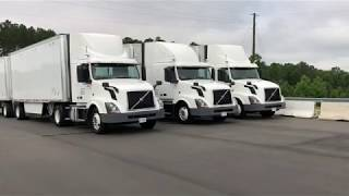 Download Volvo demos three-truck platooning system Video