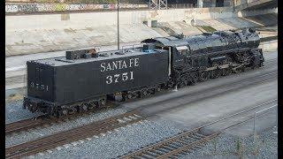 Download 4K - Rare Trains at the LA Union Station Trainfest: Santa Fe 3751, & Metrolink F125! Video