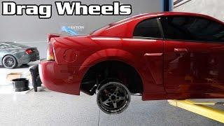 Download Test Fitting JMS Drag Wheels on the Cobra + Meet + Racing Video