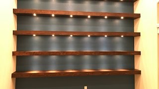 Download Build wall-to-wall shelves with recessed lights Video
