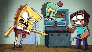 Download Minecraft | Krusty Krab Challenge - COOKING KRABBY PATTIES! (Spongebob is Fired) Video
