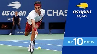 Download Top 10 Points from the 2018 US Open Video