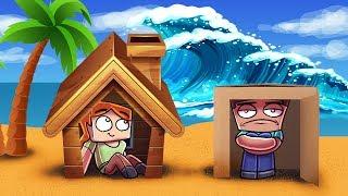 Download Minecraft   TSUNAMI BASE CHALLENGE - Tsunami Destroys City! (Will it Protect Us?) Video