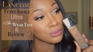 Download 12hr Lancôme Teint Idole Ultra 24hr Foundation Wear Test & Review on Oily Skin Video