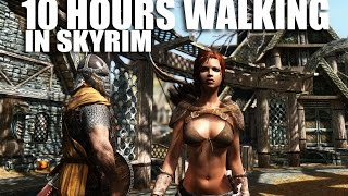 Download 10 hours walking in Skyrim as a woman in skimpy armor Video