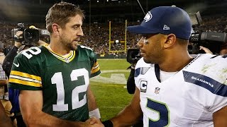 Download Aaron Rodgers Takes Shot at Russell Wilson by Crediting God for Packers' Win Video