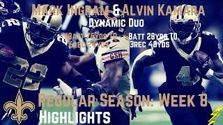 Download Alvin Kamara & Mark Ingram Week 8 Regular Season Highlights Dynamic Duo | 10/29/2017 Video