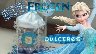 Download Dulcero de Frozen con material reciclado botellas Plasticas/ Frozen's Elsa Candy Bag Video