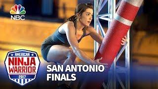 Download Kacy Catanzaro at the San Antonio City Finals - American Ninja Warrior 2017 Video