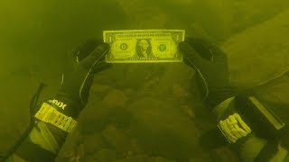 Download I Found Money While Cleaning a Trash Pile Underwater in River! (Scuba Diving) Video