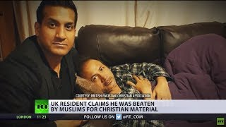 Download 'Thought I was safe in UK': Christian Pakistani allegedly beaten by Muslims over cross & poppies Video