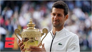 Download Novak Djokovic outlasts Roger Federer in epic five-set final | 2019 Wimbledon Highlights Video