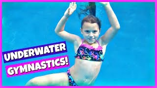 Download GYMNASTICS AND UNDERWATER SWIMMING TRICKS! FAMILY VLOG Video