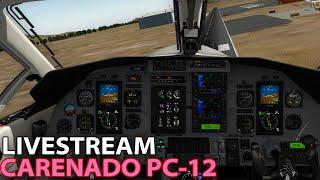 Download [Livestream] Carenado PC-12 on PilotEdge in X-Plane 10 | 2016-01-22 Video