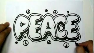 Download How to draw PEACE in Graffiti Letters - Write Peace in Bubble Letters - MAT Video